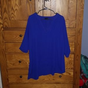 The Limited bright blue top
